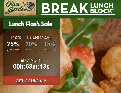 olive garden 25 off lunch coupon sweet deals 4 moms