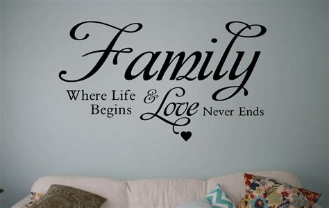 Tree Of Life Wall Sticker family where life begins wall decal sticker wall art decal