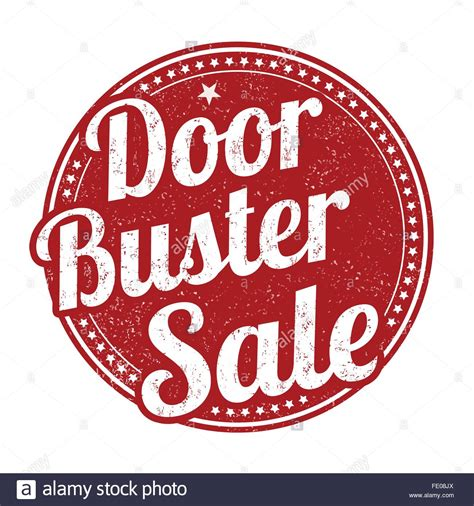 rubber st sale door buster royalty free vector doorbuster