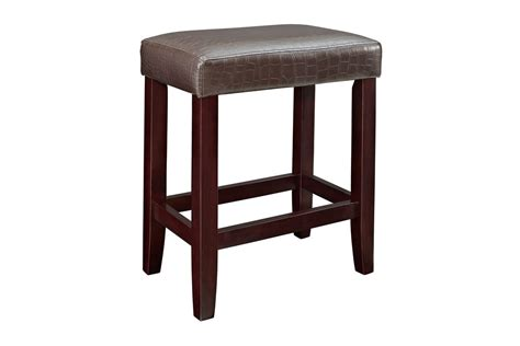 Faux Leather Counter Stools by 2 Brown Croc Faux Leather Counter Stools Powell 358 885