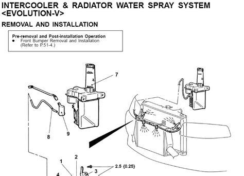 Nozzle Sprayer Lobang 4 Bengkok evo 4 gsr intercooler spray mitsubishi lancer register