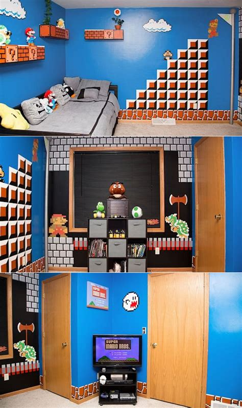 mario brothers bedroom dad creates super mario themed bedroom for daughter the