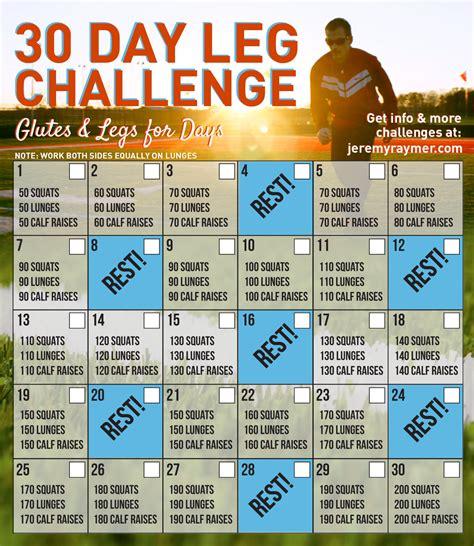 calf challenge 30 day leg challenge raymer