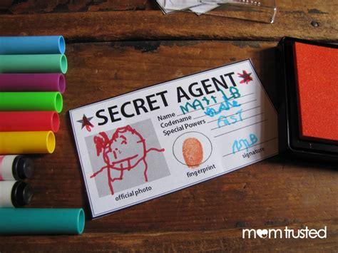 secret cards free secret id card free printable preschool