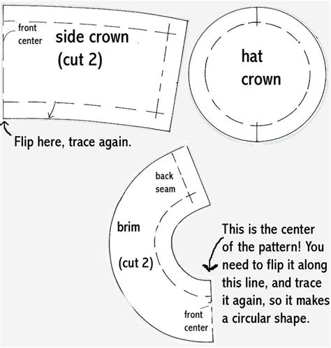 How To Make A Paper Pattern For Sewing - 25 best ideas about hat template on paper