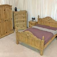 Bed Frame Design With Cabinet Bedroom Sweet Bedroom Design With Brown Pine Wooden Bed