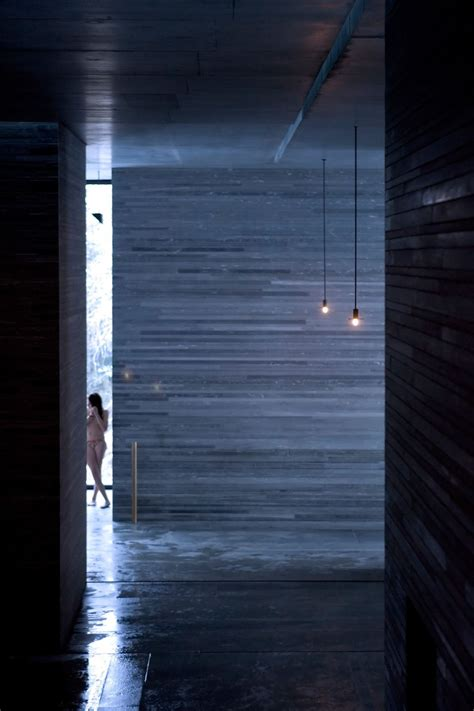 Zumthor Vals by Zumthor Thermal Baths And Spa Vals 12 A F A