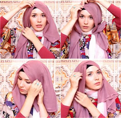 tutorial hijab paris lipat tutorial hijab paris simple dan modis beserta gambar