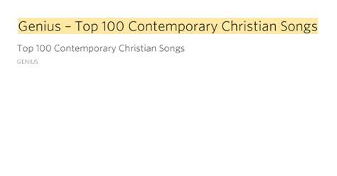 genius top  contemporary christian songs genius