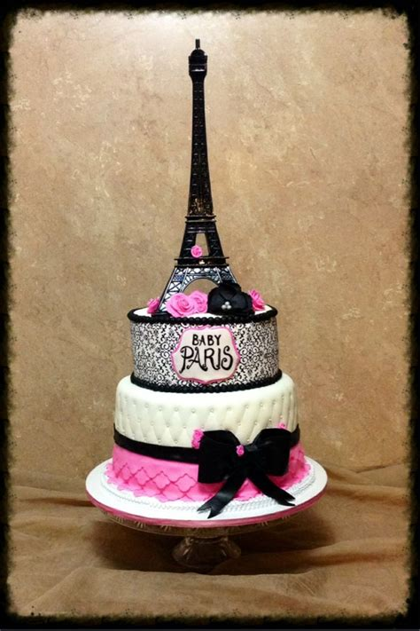 Eiffel Tower Baby Shower Cakes by