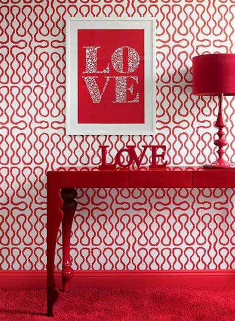 red decor red valentine day decor with romantic ideas