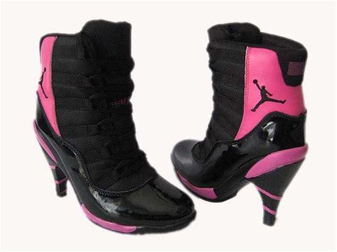 air high heels shoes retro 11 high heels shoes black pink air