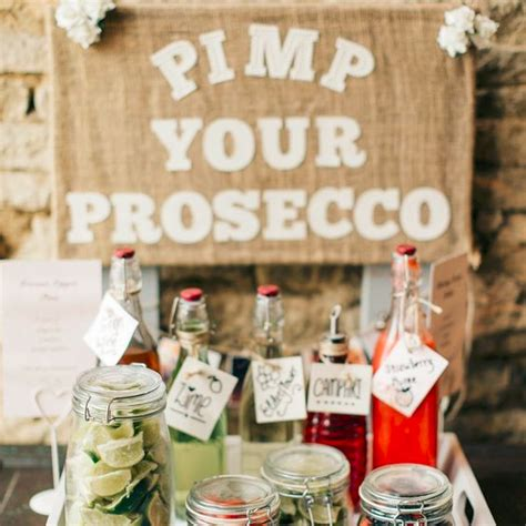 Pimp Your Prosecco Bar for Wedding Welcome Drinks