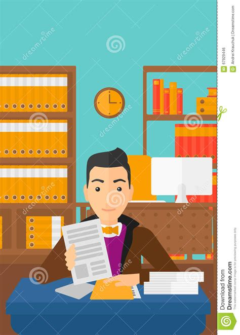 svg layout manager hr manager checking files stock vector illustration of