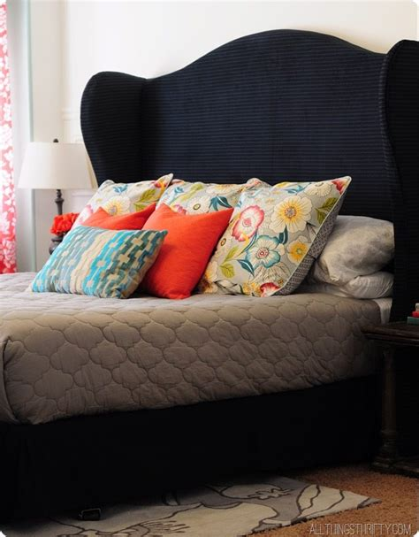 diy king size upholstered headboard diy wingback headboard tutorial with free pattern