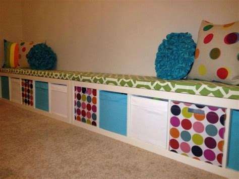 playroom ideas ikea ikea expedit turned playroom storage bench playroom