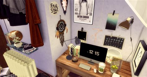 sippy sims hannahs hipster haven room