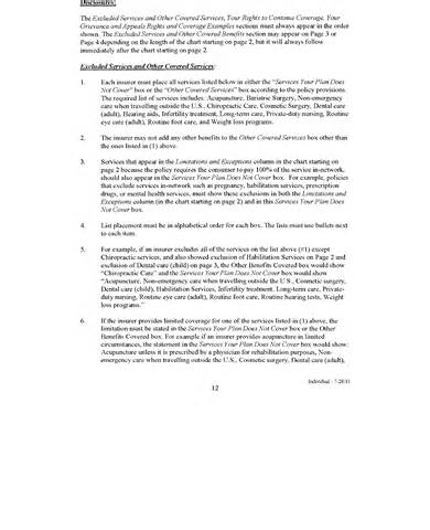 summary of benefits and coverage template federal register summary of benefits and coverage and