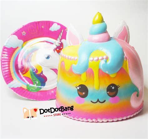 Squishy Licensed Rainbow And Galaxy Steam Bun Original jumbo puni maru unicorn rainbow cake scented