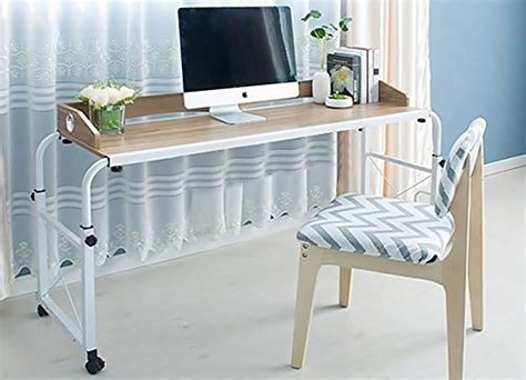 desk that goes bed unicoo overbed table let s you office in bed technabob