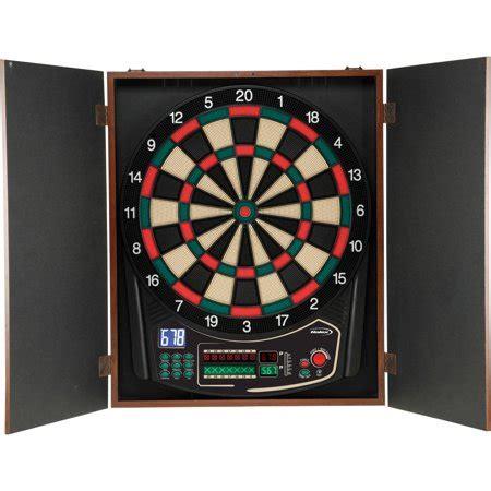 Electronic Dart Board Cabinet Set by Halex Omega Electronic Dart Board And Cabinet Set
