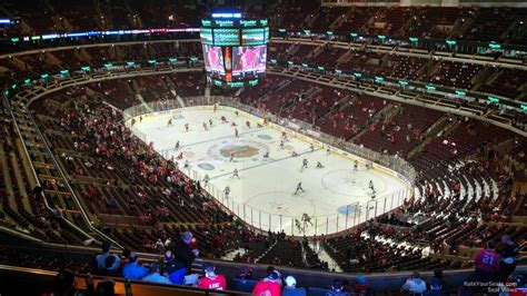 Blackhawks Sunglasses Giveaway - 300 level corner united center hockey seating rateyourseats com