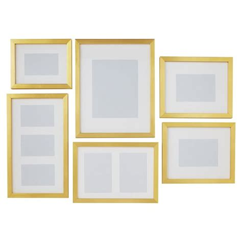 set of 6 magnetic gold frames picture frames by cb2 gallery frames set of 6 gold pbteen