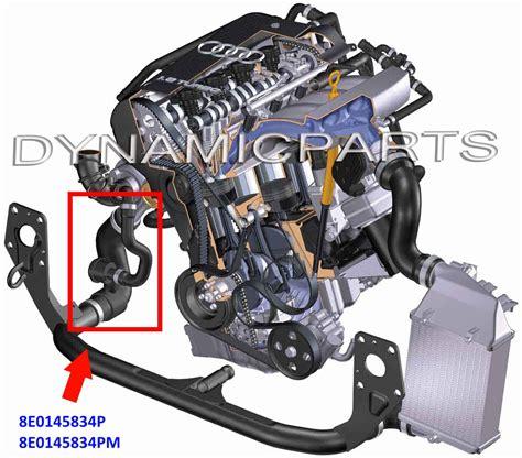 audi b6 engine audi a4 a6 b6 b7 c5 1 9 tdi turbo intercooler hose pipe