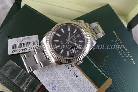 Jam Tangan Rolex Datejust Ii 116334 Black Mirror Copy 11 jual beli jam tangan mewah original baru dan bekas