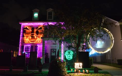 halloween house with lights and music chloe s inspiration halloween outdoor decorations in celebration florida