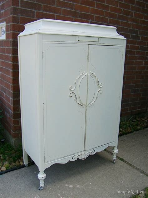 White Vintage Armoire by White Antique Armoire Painted Armoires