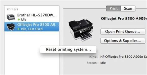 reset online printer fix quot cannot install the software for printer quot on os x