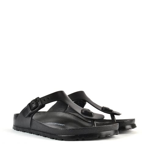 rubber birkenstock sandals gizeh black rubber sandal at brand boudoir