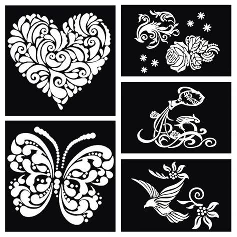 how to make a tattoo stencil 1pcs butterfly bird large airbrush