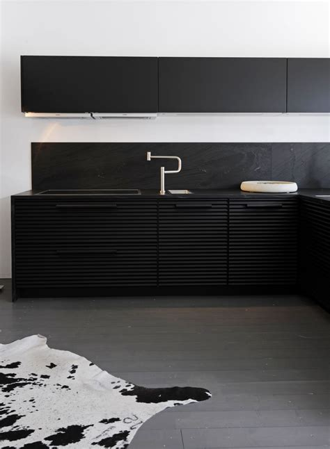 modern kitchen design ideas collection black  white