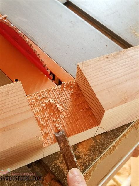 How to Cut a Half Lap Joint on a Table Saw   Sawdust Girl®