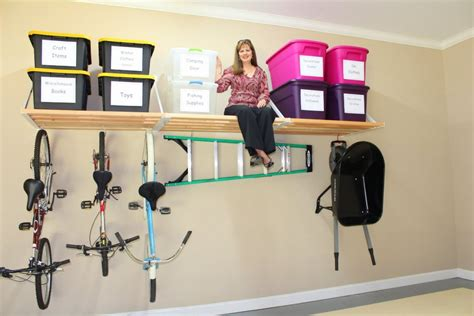 Very Small Kitchen Storage Ideas by Diy Overhead Wall Mounted Garage Storage Organization