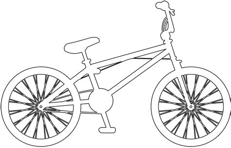 Road Bicycle Outline by Bmx Bike Silhouette Free Vector Silhouettes