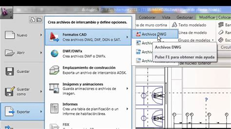 revit tutorial espanol revit tutorial espa 209 ol importar y exportar youtube