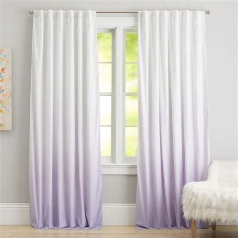 pb kids curtains ombre blackout drape light turquoise lavender