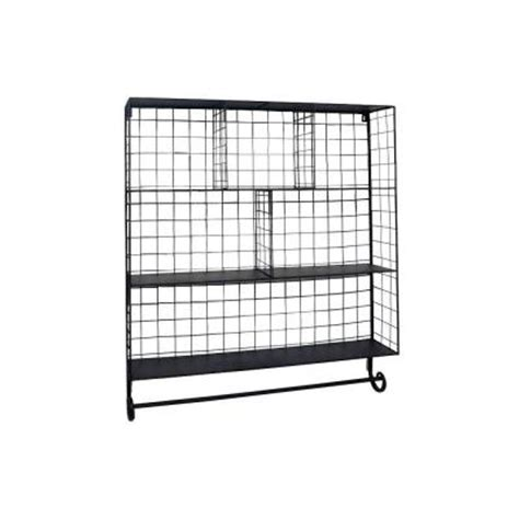home decorators collection 32 in w wall mounted rack