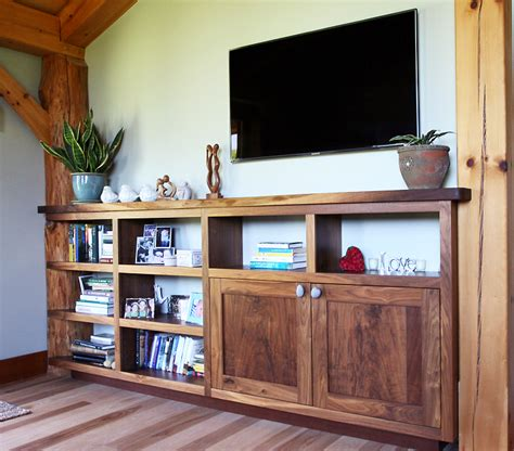 Wrap Around Bookcases With Cabinets Timber Frame Cabinetry New Energy Works
