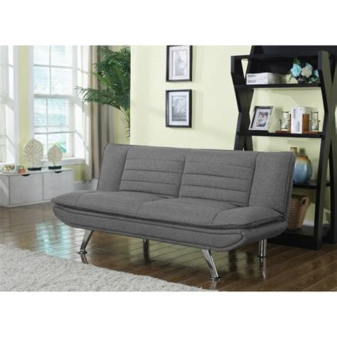 Futons Cleveland Ohio by Coaster Futons Grey Sofa Bed With Chrome Legs Coaster