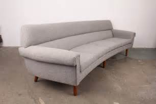 Curved Modern Sofa Mid Century Modern Curved 4 Seat Sofa At 1stdibs