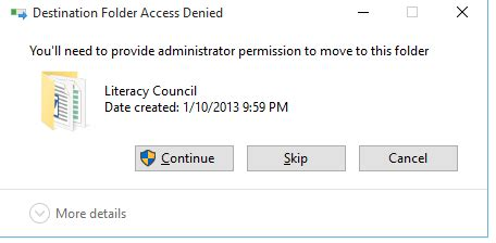 Access To Documents And Settings