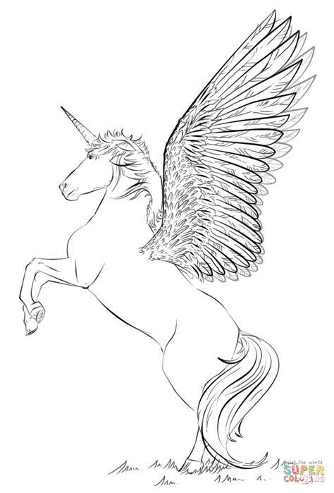 Coloring Page Unicorn With Wings by Unicorn With Wings Coloring Page Free Printable Coloring