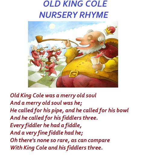 Old King Cole Nursery Rhyme nursery rhyme songs baby room ideas