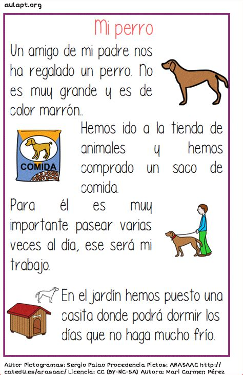 texto descriptivo corto comprensi 211 n lectora de textos cortos mi perro aula pt