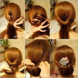 step by step easy updos for thin hair coiffure simple cheveux long tresse et chignon en 26 id 233 es