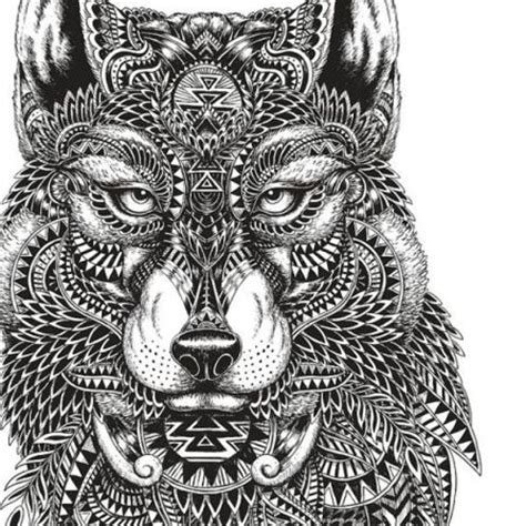 intricate wolf coloring pages adult coloring pages mayan wolf http www